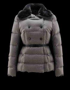 Women's Moncler Jacket Agremoine Gray cheap online