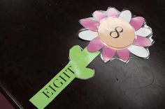 Matching number, to sight word, to number of petals (3 parts)- to make a flower - PreK skill building. With laminated pieces students can also trace letters and number to build handwriting skills. http://frozenintime81.blogspot.com/2013/02/counting-matching-sight-word-flowers.html