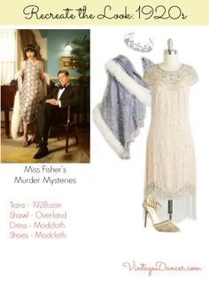 1920s Miss Phryne Fisher clothing then and now at VintageDancer.com/1920s