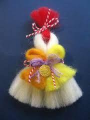 Резултат с изображение за martenici Baba Marta, Elsa, Christmas Ornaments, Holiday Decor, Earrings, Crafts, Ornaments, Navidad, Stud Earrings