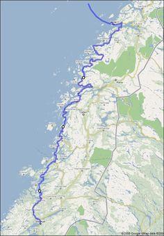 6150 km in 14 days: RV17 - The Coastal Highway. Tur för oss som inte behöver starta i Finland.