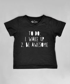 Look at this Black 'To Do List' Tee - Infant, Toddler & Boys on #zulily today!