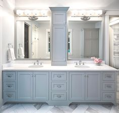 Farmhouse kitchen cabinets Powder Rooms & Master Baths – Grace Hill Design How To Choose The Right C Master Bathroom Vanity, Master Bathroom Layout, Modern Master Bathroom, Master Baths, Bathroom Vanities, Master Bathroom Designs, Shower Bathroom, Diy Shower, Bathroom Cabinets