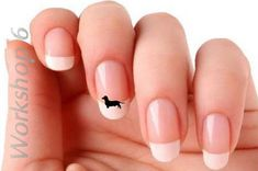 24 x Dachshund Nail Art Decals, 2 colors, Funny Vinyl Stickers Party Gift  - D22 on Etsy, $2.49