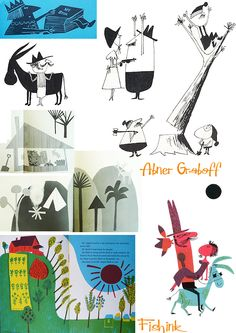 Brilliant illustrations by Abner Graboff