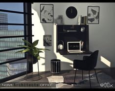 Norm Architects Office for The Sims 4 by Dox