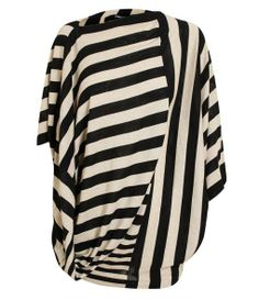 Oversized Striped Knitted Top
