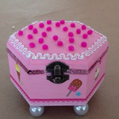 Pink handmade jelwery box gifts for little girls
