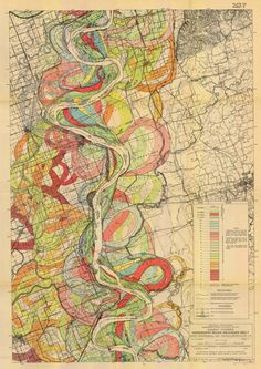 1944 Fisk Mississippi Meander Map Ancient River Sheet Louisiana Missouri 3 of 15- Reprint by HistoryImage on Etsy https://www.etsy.com/listing/254174669/1944-fisk-mississippi-meander-map