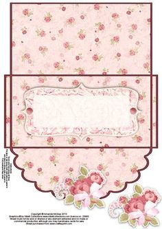 Pretty roses money wallet on Craftsuprint designed by Amanda McGee - A money… Craft Gifts, Diy Gifts, Envelope Template Printable, Gift Envelope, Money Cards, Diy Gift Box, Pretty Roses, Paper Tags, Card Envelopes