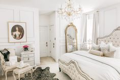 A beautiful Parisian & Versaille themed bedroom makeover - J'adore Lexie Couture Room Ideas Bedroom, Bedroom Themes, Dream Bedroom, Home Decor Bedroom, Rich Girl Bedroom, Parisian Room, Parisian Bedroom Decor, Parisian Style Bedrooms, Royal Room