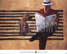 El hombre del periódico Lámina by Didier Lourenco at Art.com