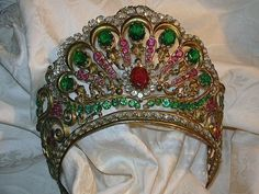 Italian Jeweled Crown For  Virgin Mary Statue