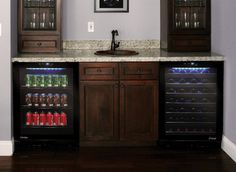 Wine And Beverage Cooler In Home Bar Design Ideas, Pictures, Remodel and Decor