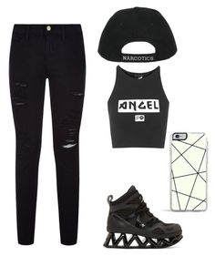 """""""#8"""" by mjvflorez ❤ liked on Polyvore featuring moda, Marc by Marc Jacobs, Illustrated People, Frame Denim y Forever 21"""