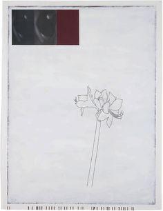 "Julião Sarmento   ""Woman, Plant, Bordeaux and White"" (2008-2009)"