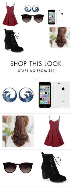 """""""day 1"""" by anniecarlone on Polyvore featuring Apple, Pin Show, Glamorous, Ray-Ban and Journee Collection"""