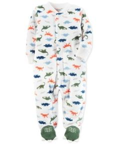 ce6063d061 Carter s Dinosaur-Print Fleece Footed Coverall