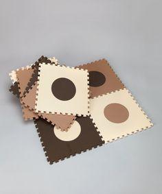Loving this Brown Circle Playmat Set on #zulily! #zulilyfinds