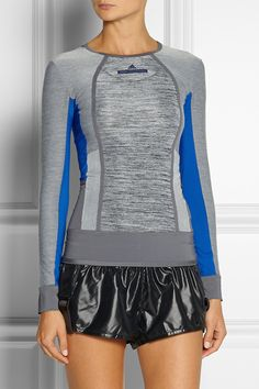 Adidas by Stella McCartney|Studio paneled Climalite® stretch top|NET-A-PORTER.COM