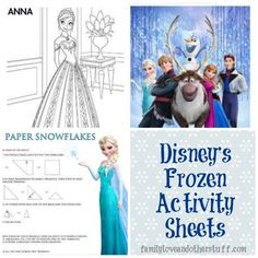 Disney's Frozen Activity Sheets | Paper Snowflakes #DisneyFrozen