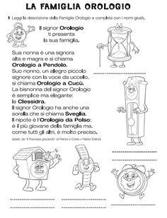 Time Activities, Language Activities, Kindergarten Activities, English Teaching Materials, Teaching English, English Time, Teaching Skills, School Worksheets, Italian Language