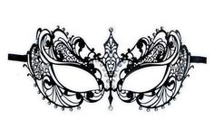 Lace Masquerade Mask Template | Intricate Masquerade Mask Template Venetian metal mask 'anisia'