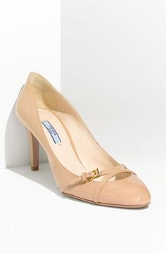 They cost a ridiculous amount but aren't they cute?!   Prada Patent Leather Pump | Nordstrom