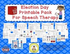Election Day Printable Pack for Speech Therapy
