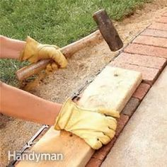 how to border brick pavers with a flower bed? - Bing images