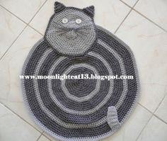 crochet cat rug