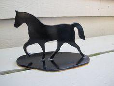 Black metal silhouette horse / Black iron horse by CreeksideCharms