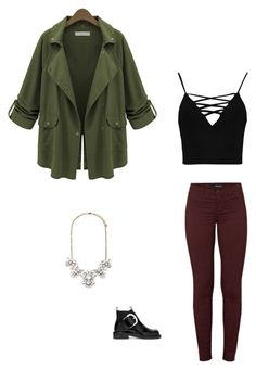 """Untitled #486"" by chloediamonds ❤ liked on Polyvore featuring Forever 21, J Brand, Boohoo and Maison Margiela"