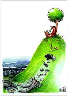 "II PortoCartoon  ""De XX para XXI: a mudança do Século/Milénio""  Cartunista: Angel Boligan Corbo (Cuba)"