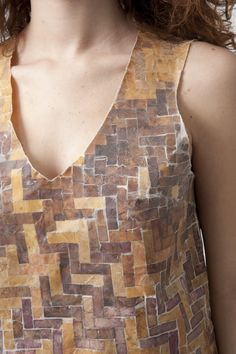 Waxed Leaf Dress | 2009 | Leaves, wax, silk | Garment by Andrea Creighton | Photo by Jim Prinz