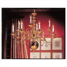Traditional 10 Light Chandelier
