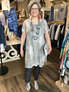 58ebd3751c May 2018-Soft semi-Sheer soit tunic from Eileen Fisher Spring 2018 - is  super sophisticated! ShepherdsFashions.com