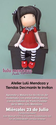 Muñequita en caja,inspirada en la ilustradora gorjuss