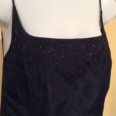 "LAUNDRY PROM classic, gorgeous gown, navy blue Elegant, fully lined gown. Spaghetti straps, backless with small black rhinestones in the top front. In like ""new"" condition. Laundry by Shelli Segal Dresses Prom"