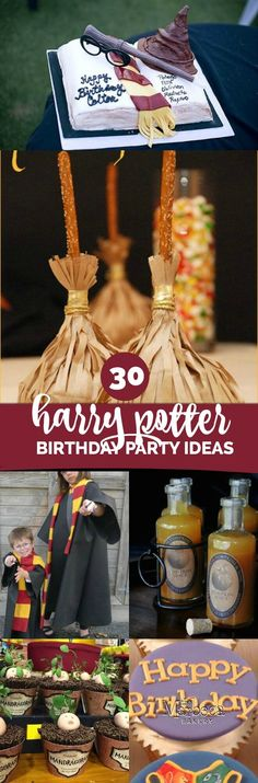 30 Magical Harry Potter Party Ideas via @spaceshipslb
