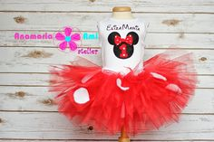 set aniversar Minnie mouse brodat