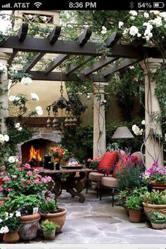 By installing a pergola, you can get both stylish and useful decoration for your backyard. To give a closer look at how to build a beautiful pergola for your outdoor space, we've prepared tons of backyard pergola ideas below! Outdoor Fireplace, Garden Room, Small Backyard, Outdoor Decor, Beautiful Patios, Pergola Plans, Garden Design, Outdoor Design
