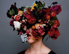 In case you haven't noticed, we LOVE flowers. Thus explains why we may have gotten a little (a lot) carried away on this beautiful We hope you ap Arte Floral, Jolie Photo, Love Flowers, Colorful Flowers, Her Hair, Art Photography, Conceptual Photography, Pretty, Beauty
