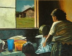 Mama's Kitchen by brian lemke Oil ~ 16 x 20