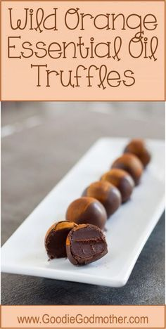 A perfect treat for the essential oil lovers, these wild orange essential oil truffles make a delightful dessert or edible gift idea! * Recipe on GoodieGodmother.com