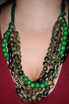 Multi-layered Green Gold and Brown Colored by RAVsLostAndFound