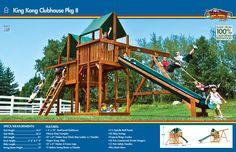 36A King Kong Clubhouse Pkg II #swingsets #rainbowplay #rainbowplaysystem #rainbowplaysystems