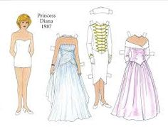 Image result for princess diana paper doll book