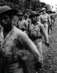 Samoan Marines marching 54714