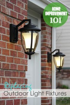 Replacing outdoor light fixtures.......It's easier than you think.  Don't be scared!  (Plus, you'll save yourself some money!)  www.makeit-loveit.com